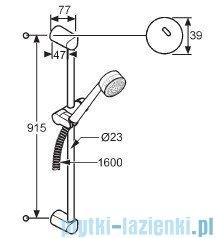 Kludi Zenta Zestaw natryskowy 3S dł.90cm biały/chrom 6084091-00