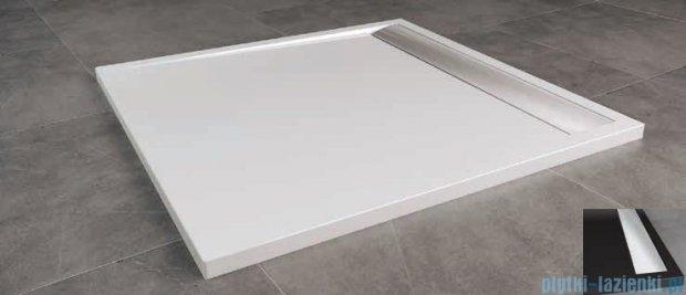 SanSwiss Ila WIQ Brodzik kwadratowy 90x90cm kolor czarny/połysk WIQ09050154