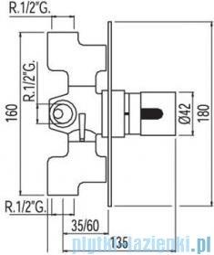 Tres Max-Tres Bateria termostatyczna podtynkowa kolor chrom 1.90.150