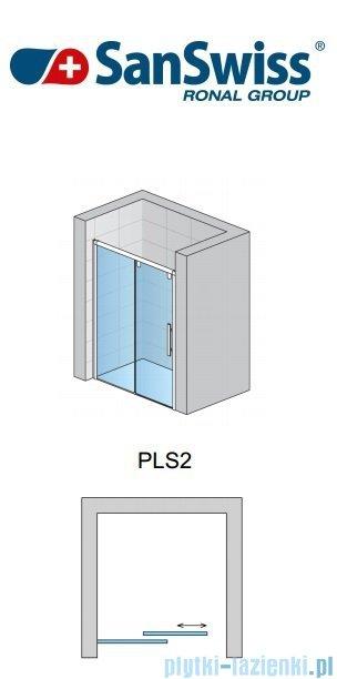 SanSwiss Pur Light S PLS2 Drzwi rozsuwane 160cm profil biały szkło przejrzyste Lewe PLS2G1600407