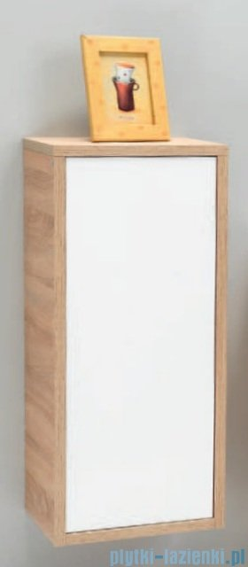 Antado Grande słupek niski z blatem prawy 40x32x90cm dąb Sonoma+biały GR-165R-3025/WS
