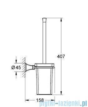 Grohe Grandera szczotka toaletowa kpl. chrom 40632000