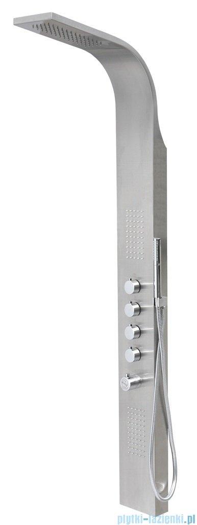 Corsan Samsara Panel natryskowy z mieszaczem stal szczotkowana S-003M