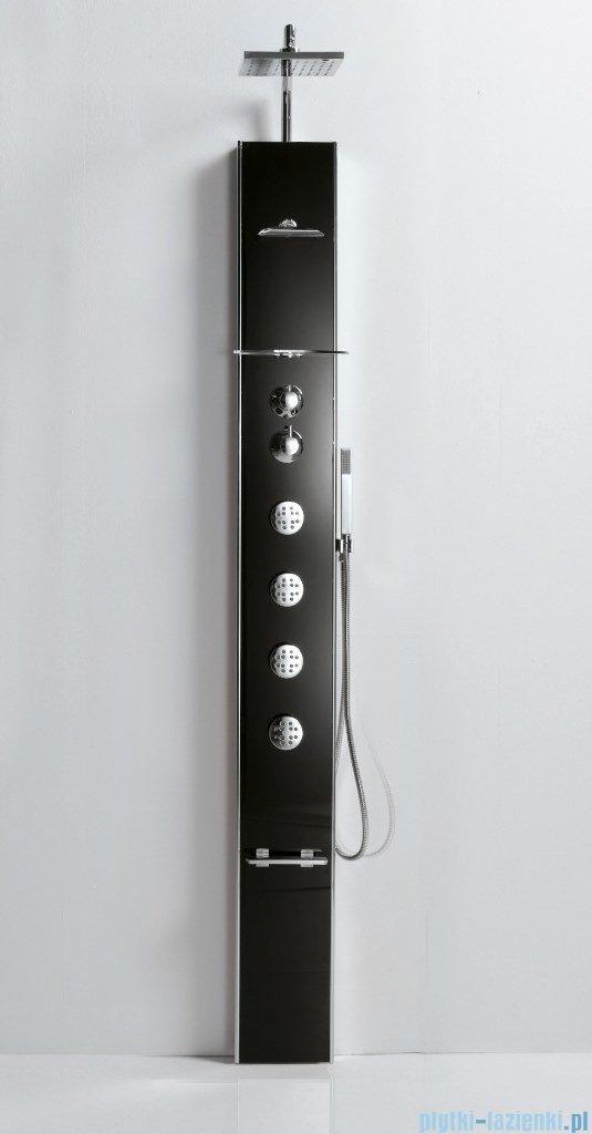 Novellini Aqua 1 Cascata 1 panel prysznicowy czarny bateria mechaniczna CASC1VM-H
