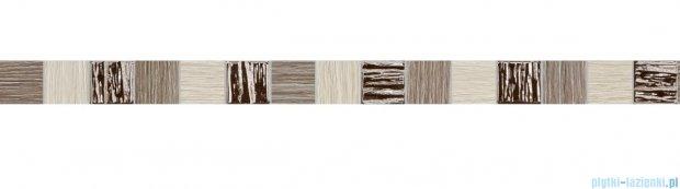 Tubądzin Biloba brown listwa ścienna 3,9x60,8