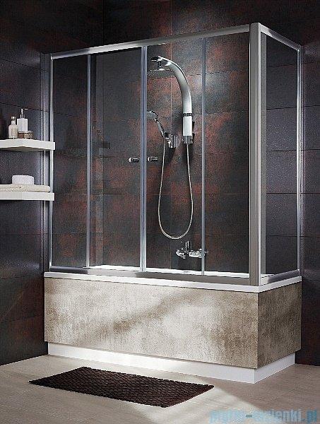 Radaway Vesta DWD+S Parawan nawannowy 180x65cm szkło fabric 203180-06/204065-06