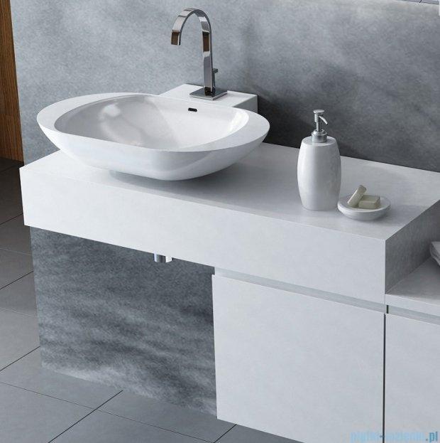 Antado Combi szafka z blatem biała/jasne drewno ALT-140/45GT-WS/dn+ALT-B-1000x450x150-WS