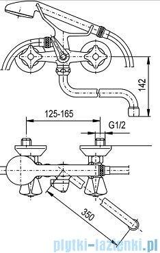 KFA STANDARD Bateria wannowo-umywalkowa ścienna 304-198-00