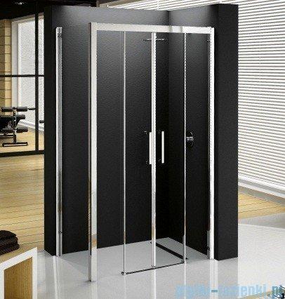 Novellini ElysiumPodwójne drzwi przesuwne KUADRA 2A 120 szkło przejrzyste profil chrom KUAD2A120-1K
