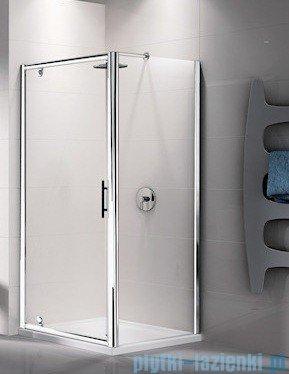 Novellini Ścianka stała LUNES F 90 cm szkło przejrzyste profil biały LUNESF90-1D