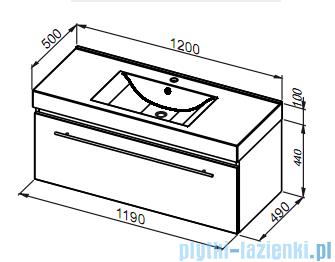 Aquaform Decora szafka podumywalkowa 120cm czarny 0401-542913