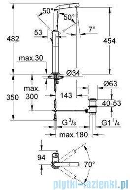 Grohe Atrio bateria umywalkowa DN 15 chrom 32130001