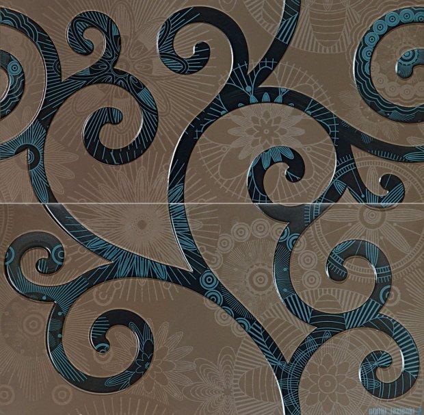Tubądzin Elle blue dekor ścienny 2-elementowy 59,8x59,8