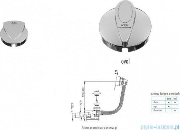 Excellent Delta syfon odpływowo-przelewowy 100cm chrom AREX.1561CR