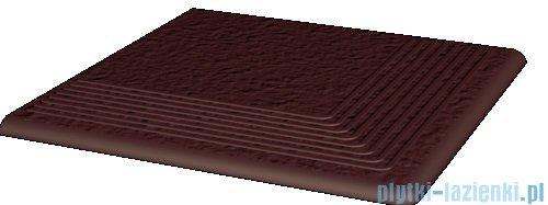 Paradyż Natural brown duro klinkier stopnica narożna 30x30