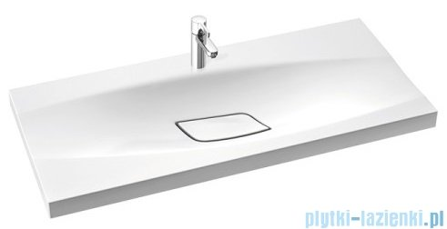 Marmorin Noel 1000 umywalka wpuszczana w blat 100x45 bez przelewu i z otworem na baterie biała 581100020011