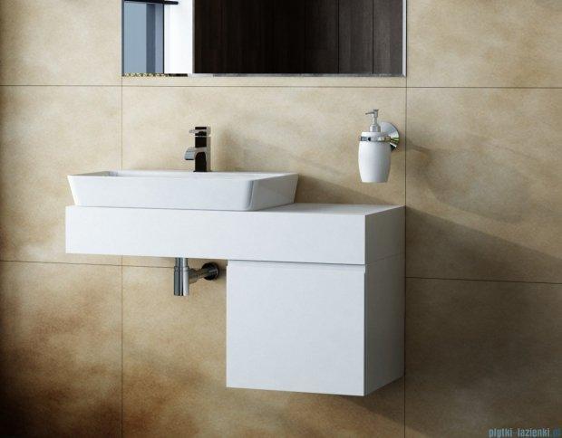 Antado Combi szafka z blatem lewym i umywalką Bali biały ALT-140/45GT-WS+ALT-B/2L-1000x450x150-WS+UCS-TC-65