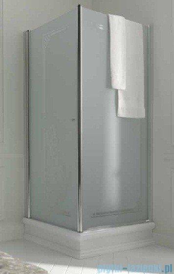 Kerasan Retro Kabina kwadratowa prawa szkło dekoracyjne przejrzyste profile brązowe 90x90 9146N3