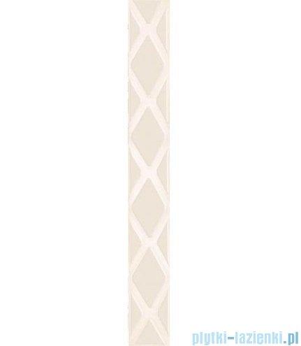 Paradyż Secret bianco poduszki listwa ścienna 7x59,5