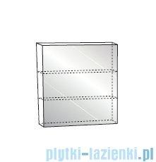 Antado Variete Szafka z lustrem 50x15x75 szary połysk FM-115CH-K917