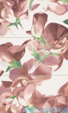 Dekor ścienny 3-elementowy Tubądzin Colour Bloom Carmine 98,1x59,3