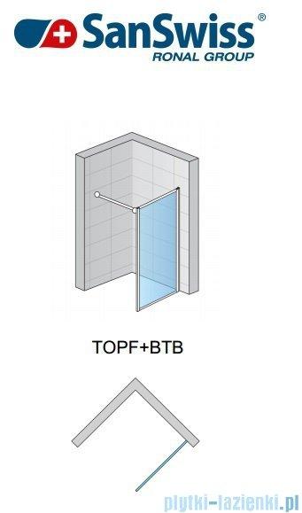 SanSwiss Top-Line TOPF Ścianka boczna 25-80cm profil biały TOPFSM10407