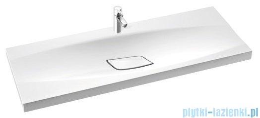 Marmorin Noel 1200 umywalka wpuszczana w blat 120x45 bez przelewu i z otworem na baterie biała 582120020011