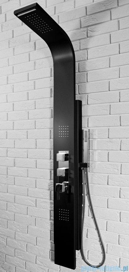 Rea panel natryskowy aluminiowy z mieszaczem i kaskadą czarny 8725Czarny
