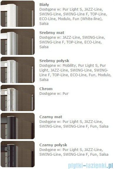 Sanswiss Melia MET3 Ścianka lewa z uchwytami i profilem 30-90/do 200cm krople MET3AGSM11044