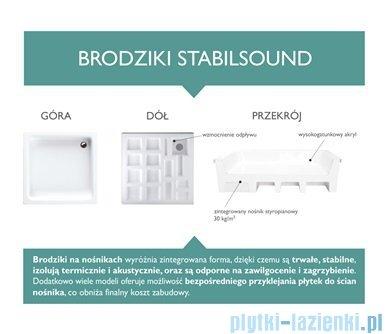 Schedpol Competia Brodzik asymetryczny lewy z nośnikiem 80x100x14cm 3.0171