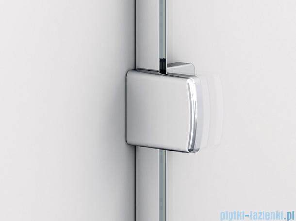 Sanswiss Melia ME31 Drzwi ze ścianką w linii lewe z uchwytami i profilem do 140cm przejrzyste ME31AGSM11007