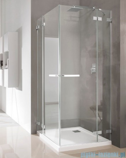Radaway Euphoria KDD Kabina prysznicowa 90x90 szkło przejrzyste + brodzik Delos C + syfon 383060-01L/383060-01R/SDC0909-01