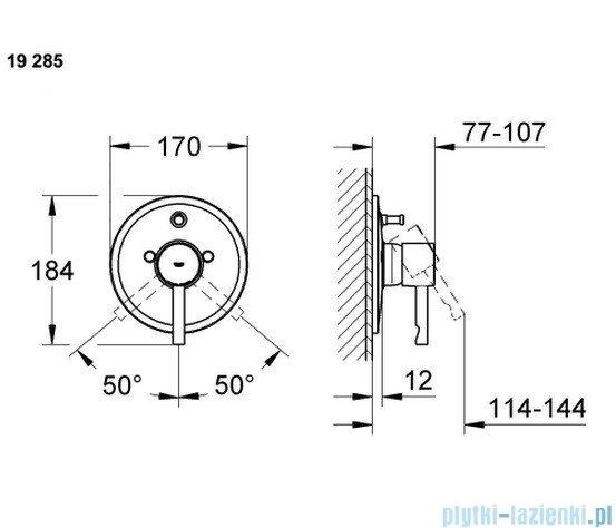 Grohe Essence jednouchwytowa bateria wannowa z przełącznikiem wanna/prysznic 19285000