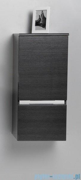 Antado Cantare Słupek niski wiszący z szufladą 40x33x88  prawy, grafit- fino FSM-394GTR-46/46