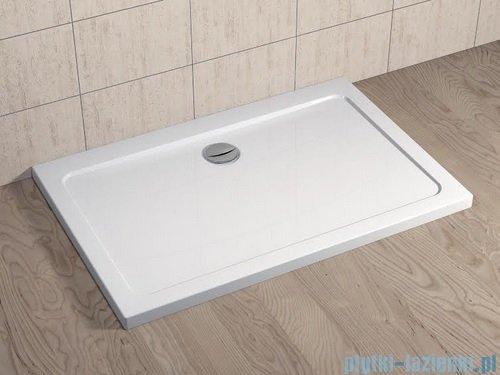 Radaway Eos II DWJS Drzwi prysznicowe 130x195 prawe szkło przejrzyste + brodzik Doros D + syfon 3799455-01R/SDRD1390-01