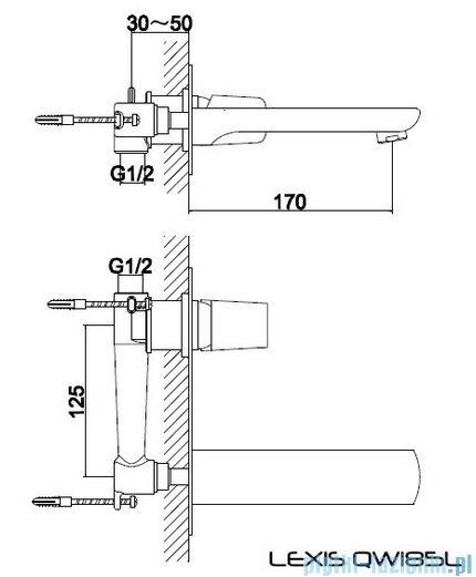 Kohlman Lexis podtynkowa bateria umywalkowa QW185L
