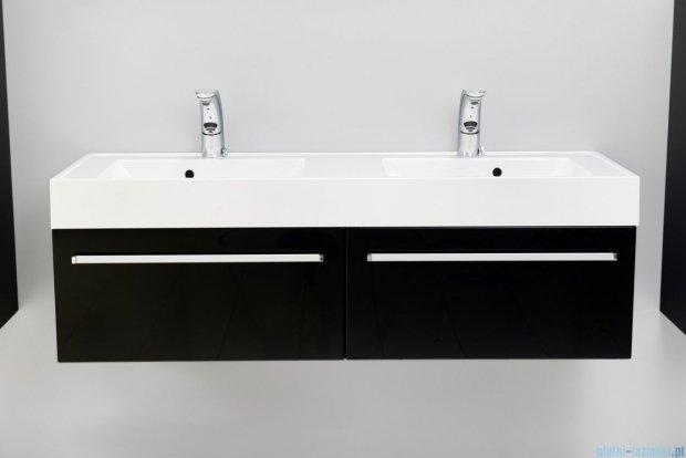 Antado Variete szafka z umywalką, wisząca 140 czarny połysk FM-442/7-9017 + FM-442/7-9017 + UNAM-1404D