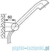KFA Natrysk punktowy obrotowy JUPITER chrom (blister) 841-206-00-BL