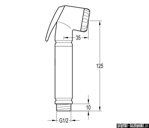 Omnires słuchawka bidetowa 1-funkcyjna ze stopem chrom BIDETTA-R555