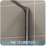 SanSwiss Melia MET1 ścianka prawa z profilem wymiary specjalne 90-140/do 200cm cieniowane czarne MET1PDSM21055