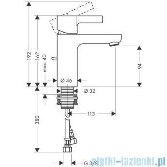 Hansgrohe Metris S Jednouchwytowa bateria umywalkowa DN15 31060000