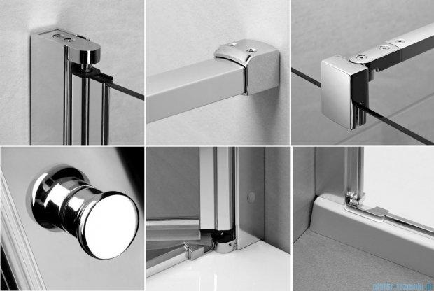 Radaway Eos KDJ kabina prysznicowa 90x90 prawa szkło przejrzyste + brodzik Delos C + syfon 37503-01-01NR