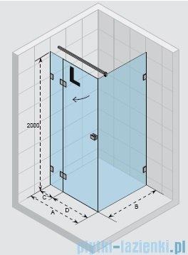 Riho Scandic Lif tM203 kabina prysznicowa 120x80x200cm lewa GX0902101