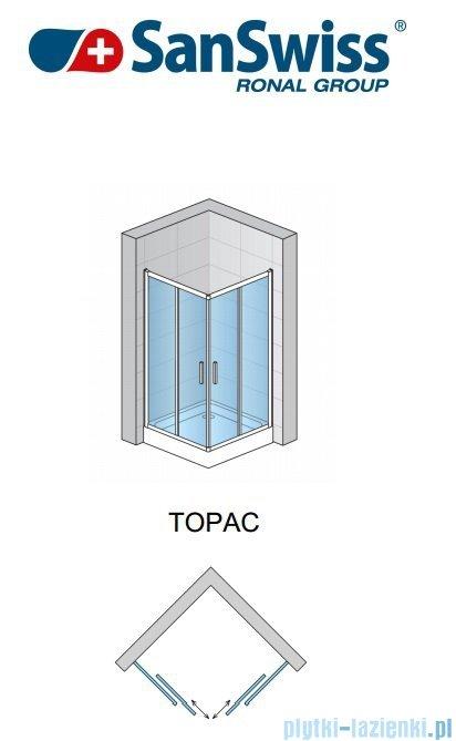 SanSwiss Top-Line TOPAC Wejście narożne 80cm profil połysk Lewe TOPG08005007