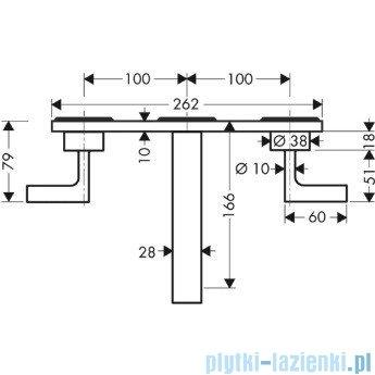Hansgrohe Axor Citterio 3-otworowa bateria umywalkowa ścienna podtynkowa DN15 39316000