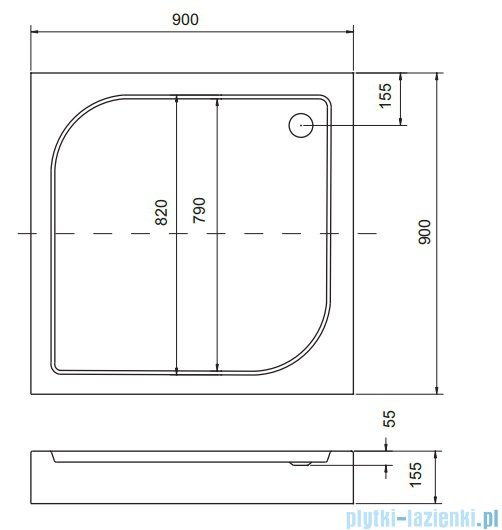 Sea Horse Sigma zestaw kabina natryskowa kwadratowa 90x90 chinchilla + brodzik BKZ2/3/Q
