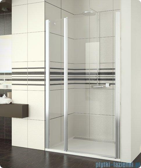 SanSwiss Swing Line SL13 Drzwi prysznicowe 140cm profil biały SL1314000407