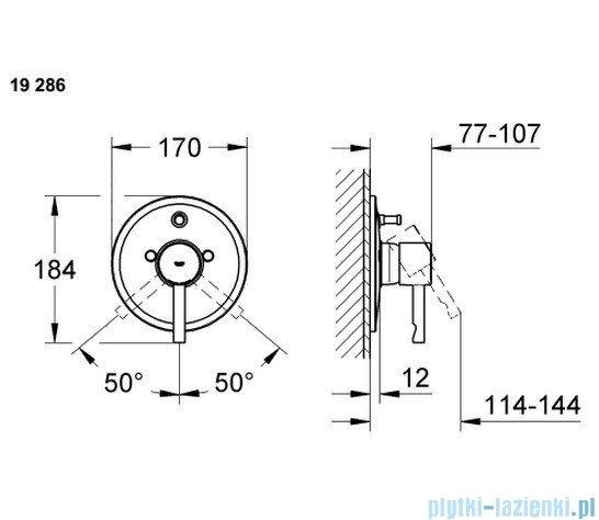 Grohe Essence jednouchwytowa bateria wannowa 19286000