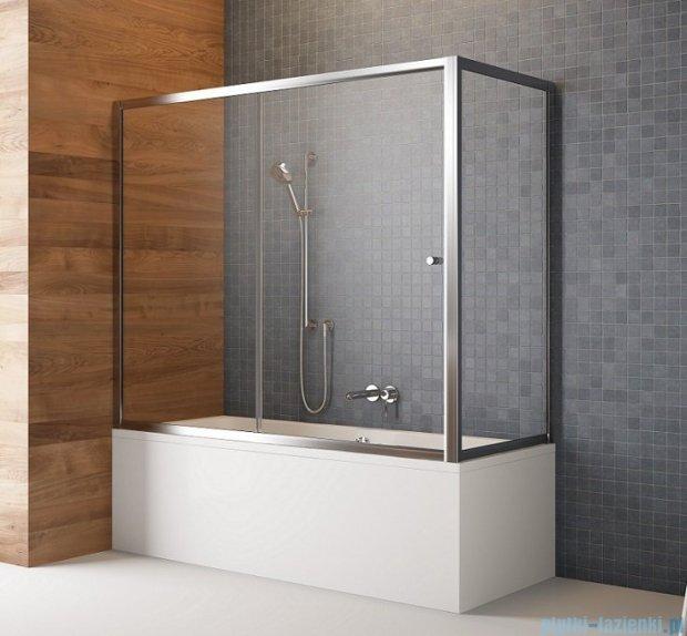 Radaway Vesta Dwj+s parawan nawannowy 140x70cm szkło przejrzyste 209114-01-01/204070-01
