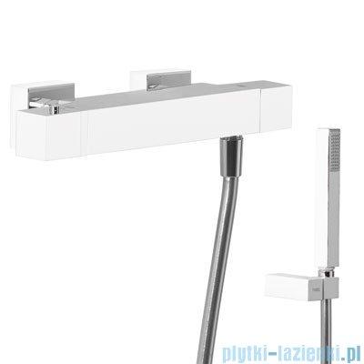 Tres Cuadro Exclusive Bateria termostatyczna natryskowa kolor biały chrom 4.07.164.9